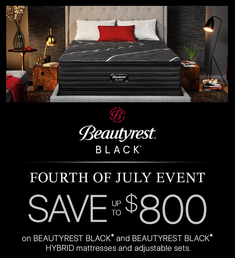Beautyrest Black 4th of July Sales Event